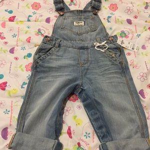 NWT Oshkosh overalls for toddler girls, size 24 m